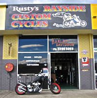 Rusty's Bayside Custom Cycles - Shop Front