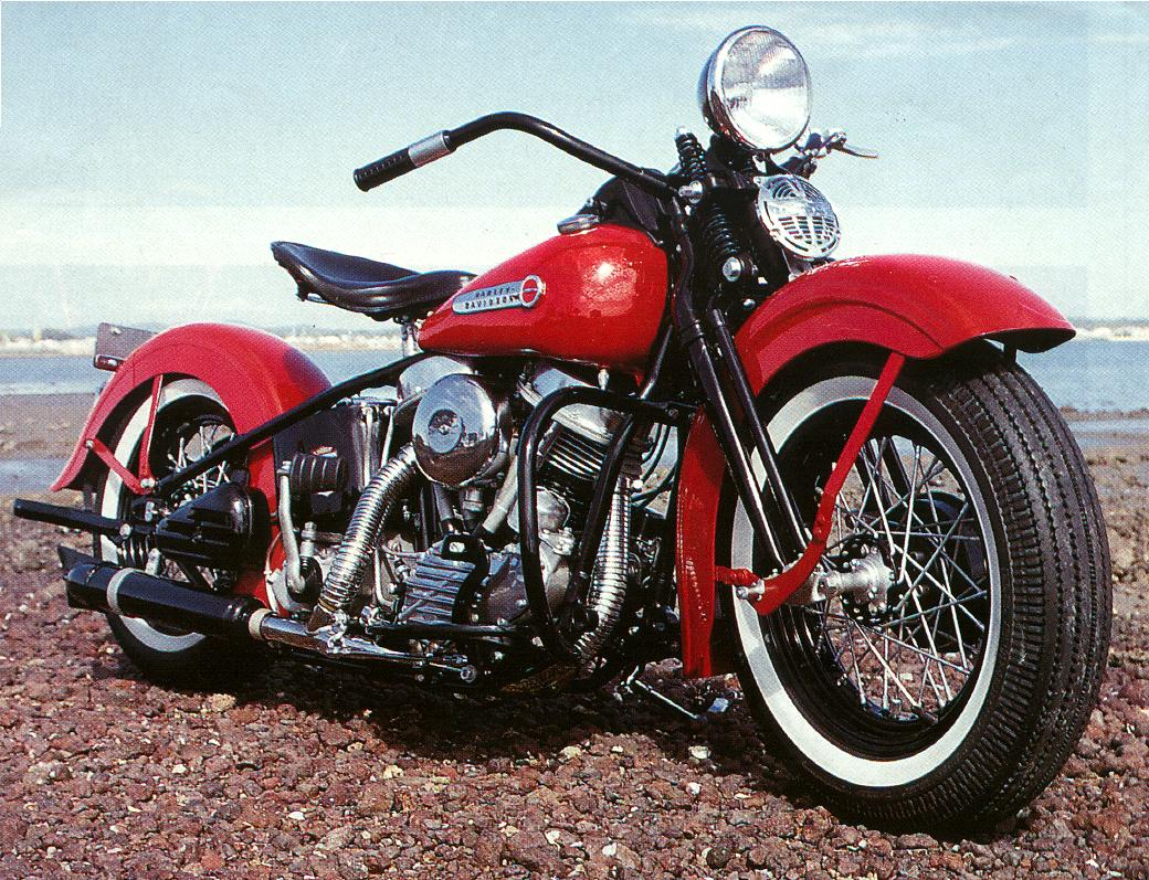 Restored 1948 Harley Panhead Springer Motorcycle